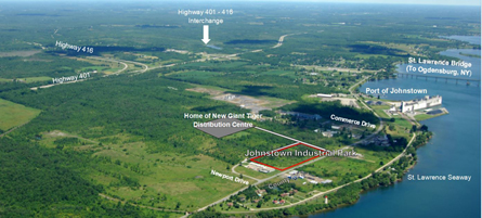 Aerial view of Township of Edwardsburg Cardinal Industrial Park